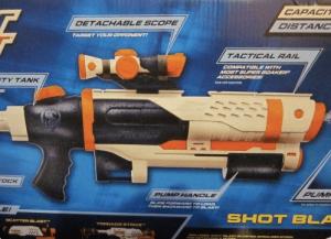 nerf super soaker shot blast water gun with scope